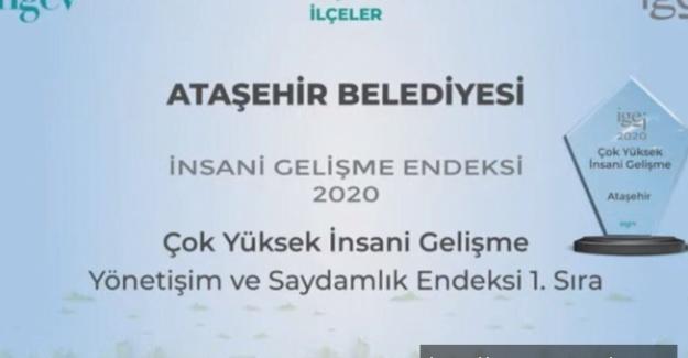 Ataşehir Belediyesi'ne İNGEV'den ödül
